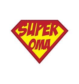 "Pegatina superhéroe ""Oma"""
