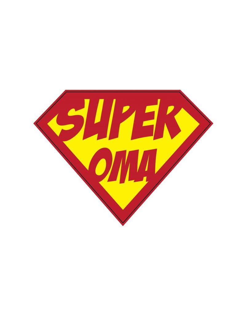 Autocollant super-héros Oma