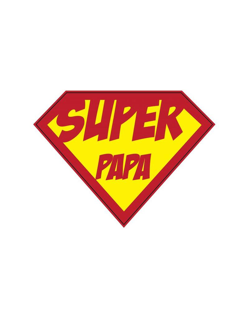 Autocollant super-héros Papa