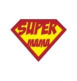 Autocollant super-héros Mama