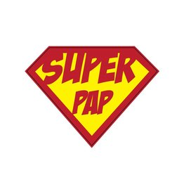 Super hero Pap Sticker