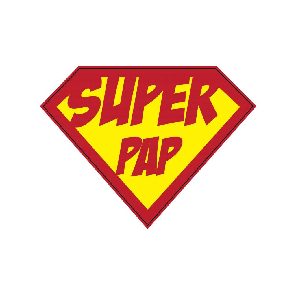 Autocollant super-héros Papp