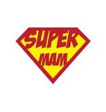 "Pegatina superhéroe ""Mam"""