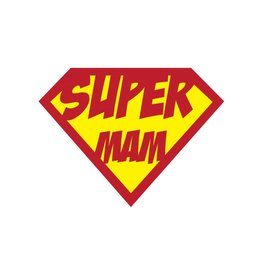 Super hero Mam Sticker