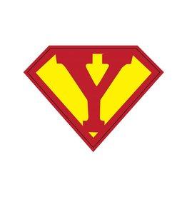 Pegatina superhéroe Y