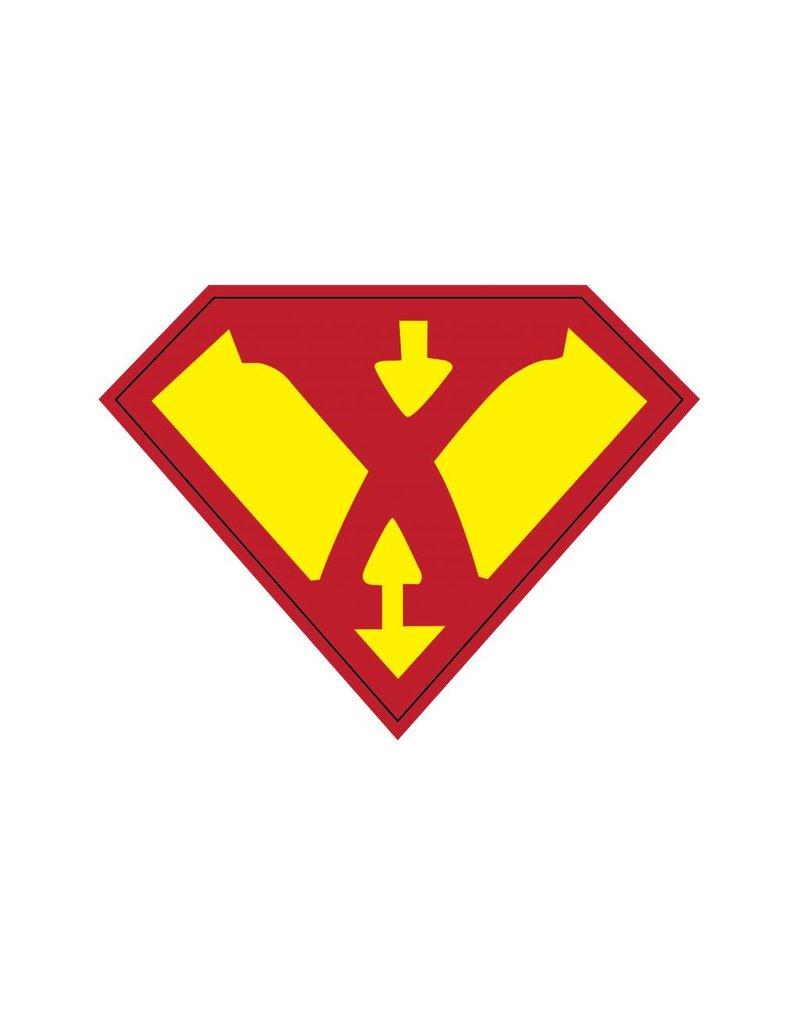 Pegatina superhéroe X