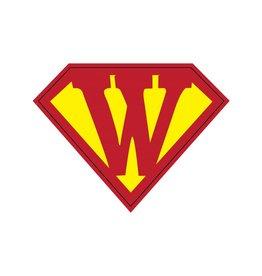 Pegatina superhéroe W