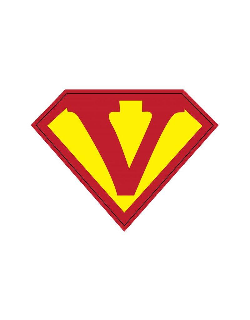 Pegatina superhéroe V