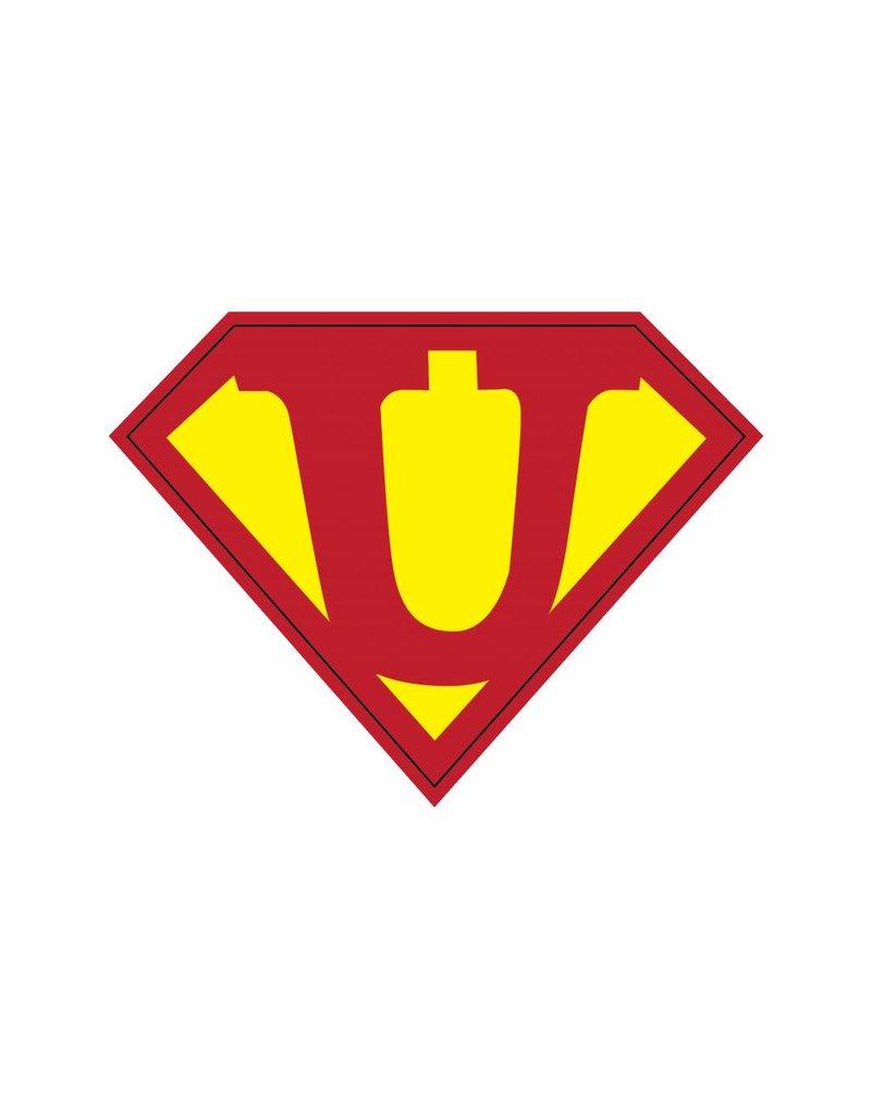 Pegatina superhéroe U