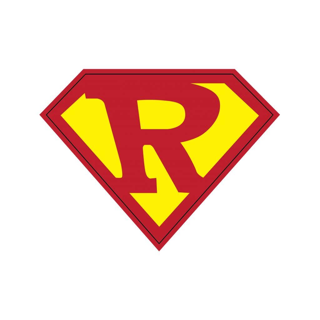 Pegatina superhéroe R