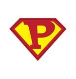 Pegatina superhéroe P