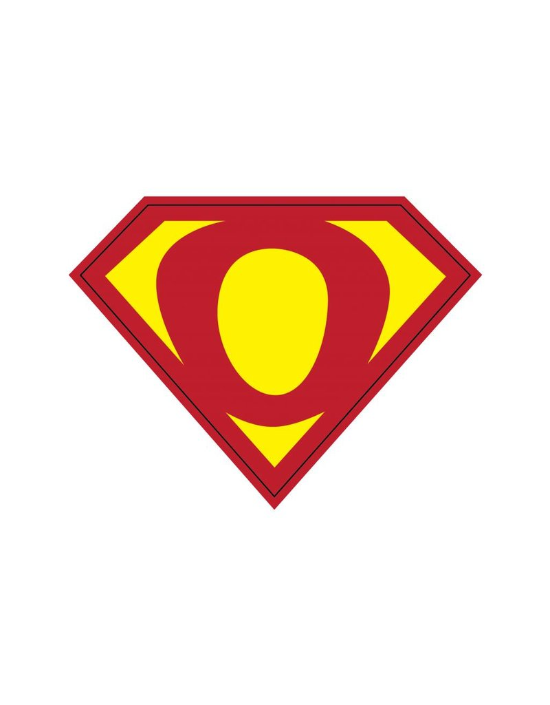 Pegatina superhéroe O