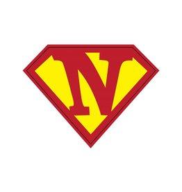 Pegatina superhéroe N