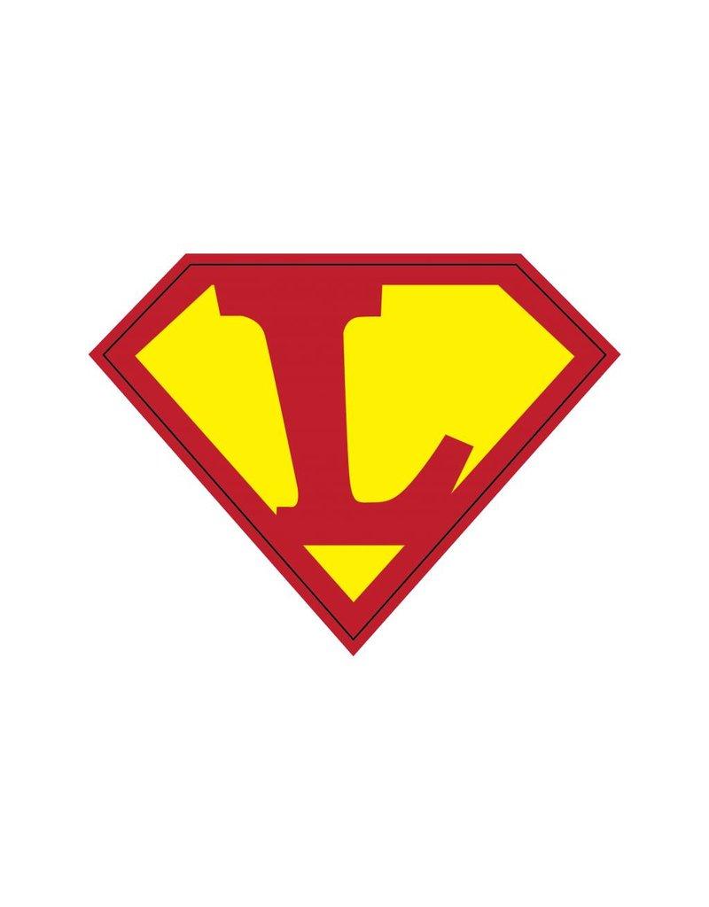 Pegatina superhéroe L