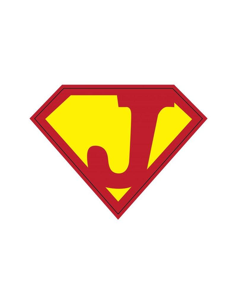 Pegatina superhéroe J