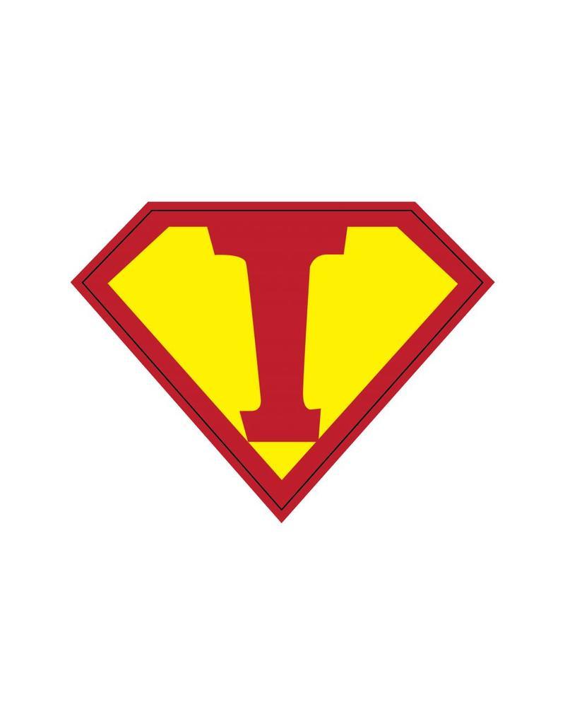 Pegatina superhéroe I