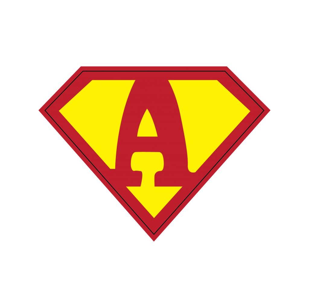 Pegatina superhéroe A