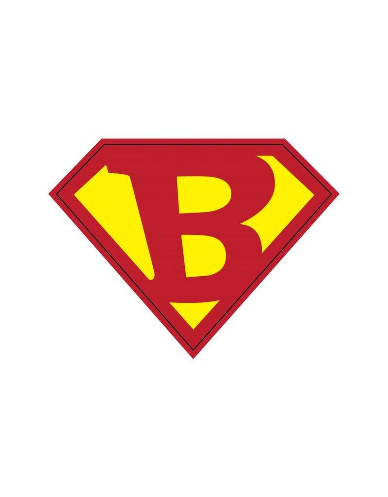Pegatina superhéroe B