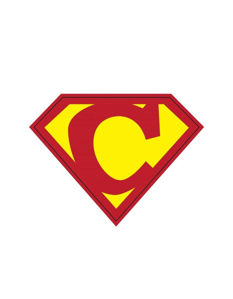 Pegatina superhéroe C