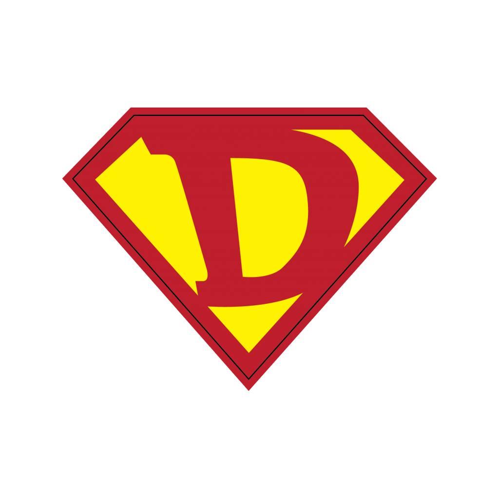 Pegatina superhéroe D