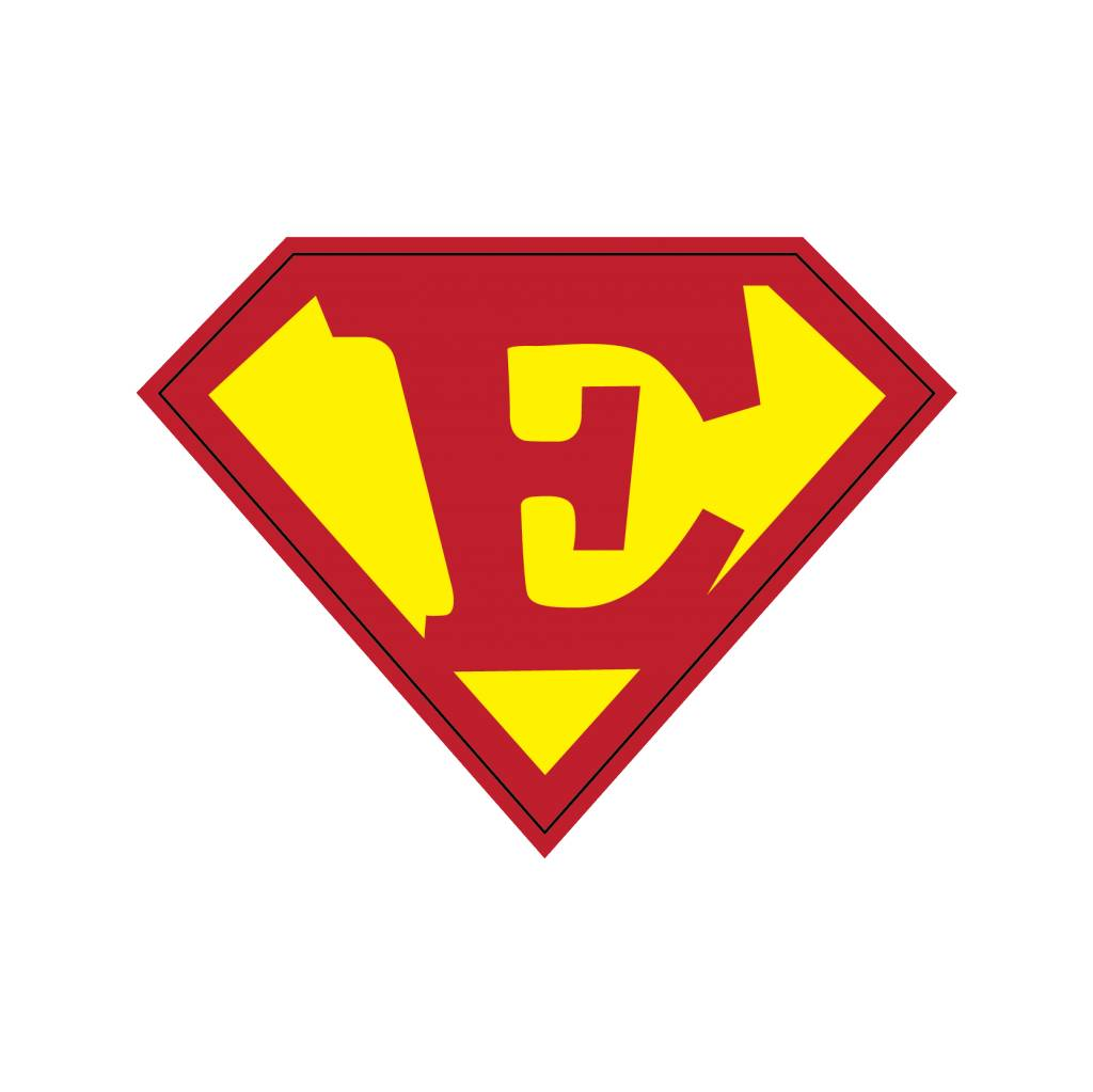 Pegatina superhéroe E