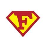 Pegatina superhéroe F