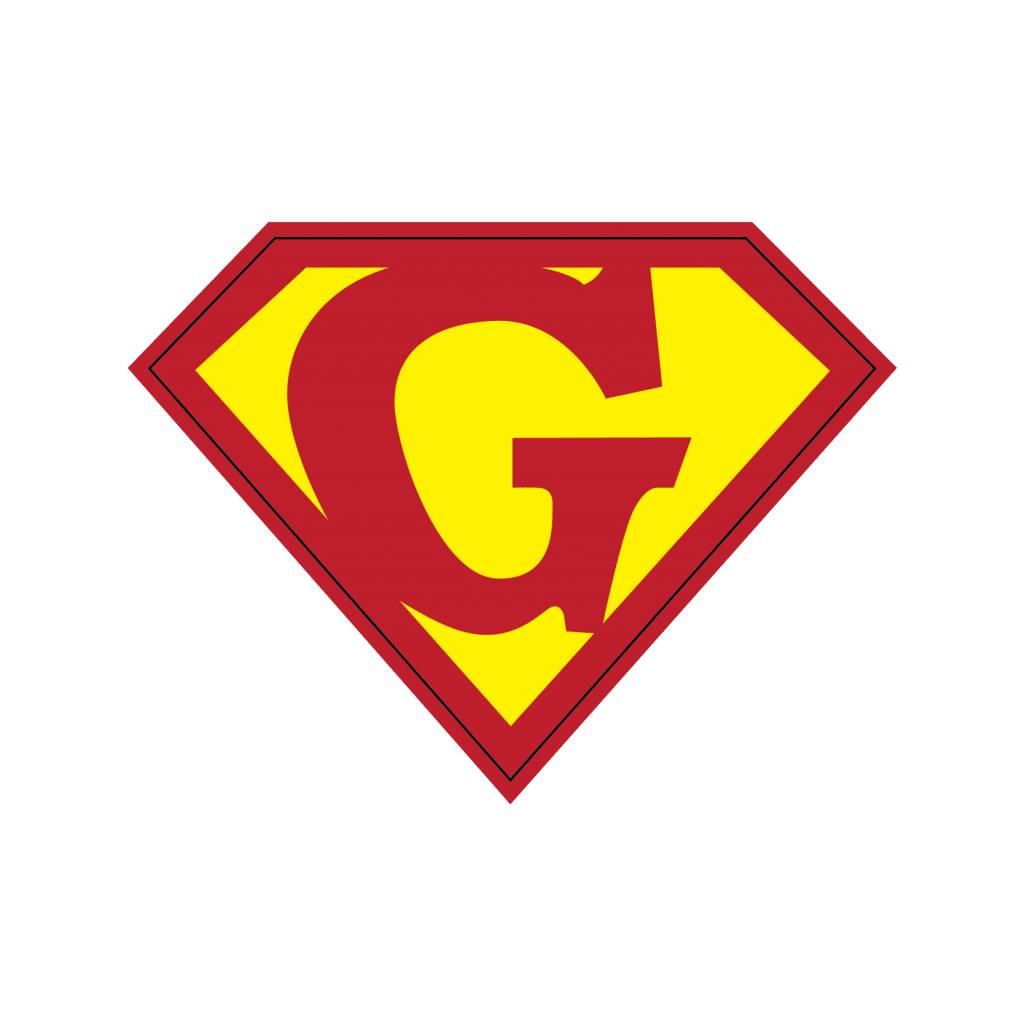 Pegatina superhéroe G