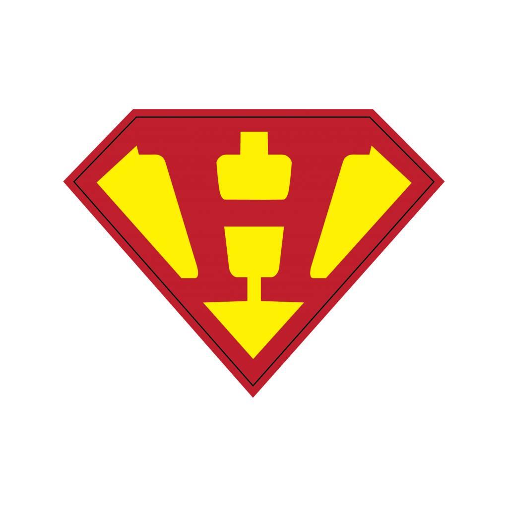 Pegatina superhéroe H