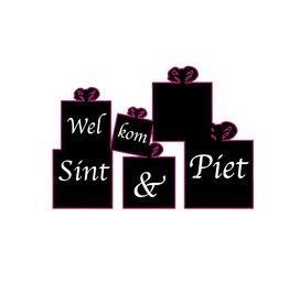 """""""Welkom Sinterklaas"""" present sticker"""