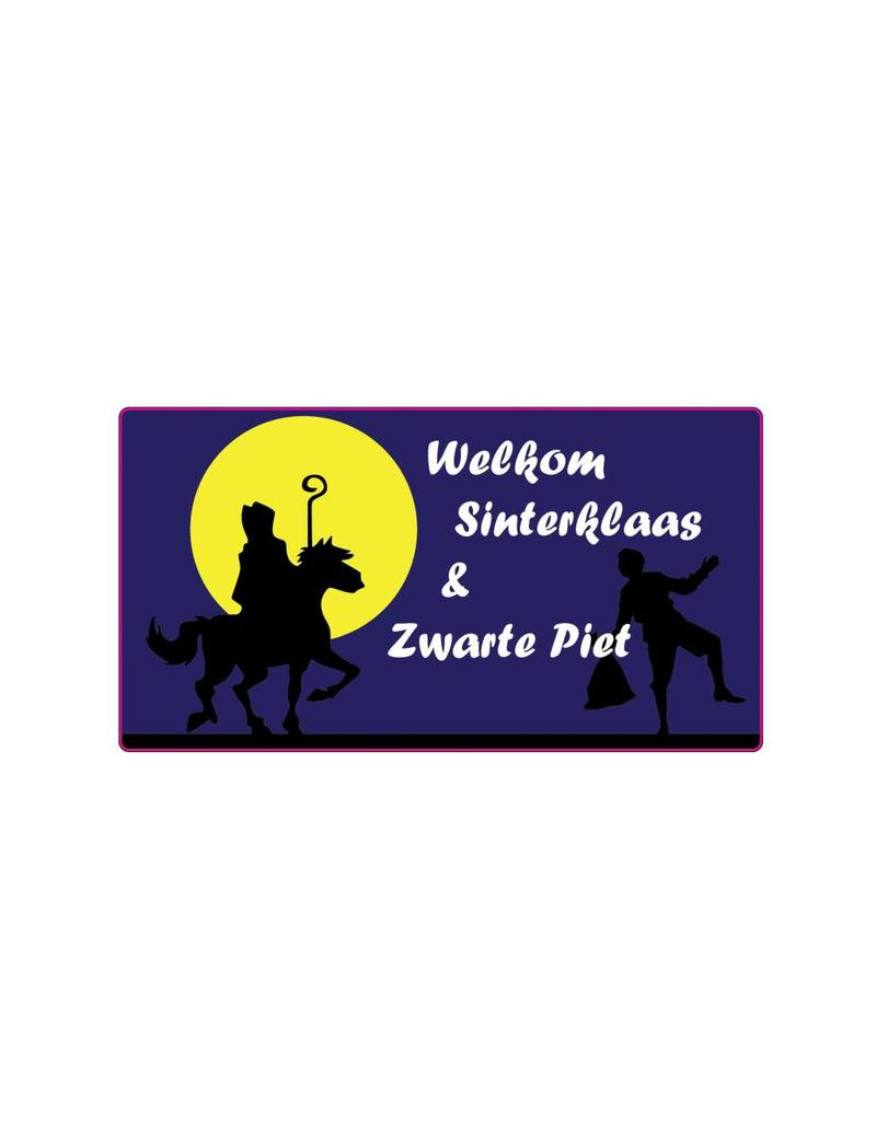 """Welkom Sinterklaas"" moon sticker"