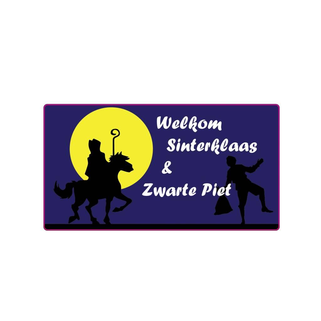 Welkom Sinterklaas maan sticker