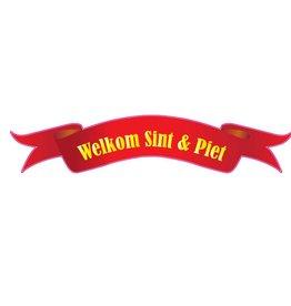 """""""Welkom Sinterklaas"""" sticker"""