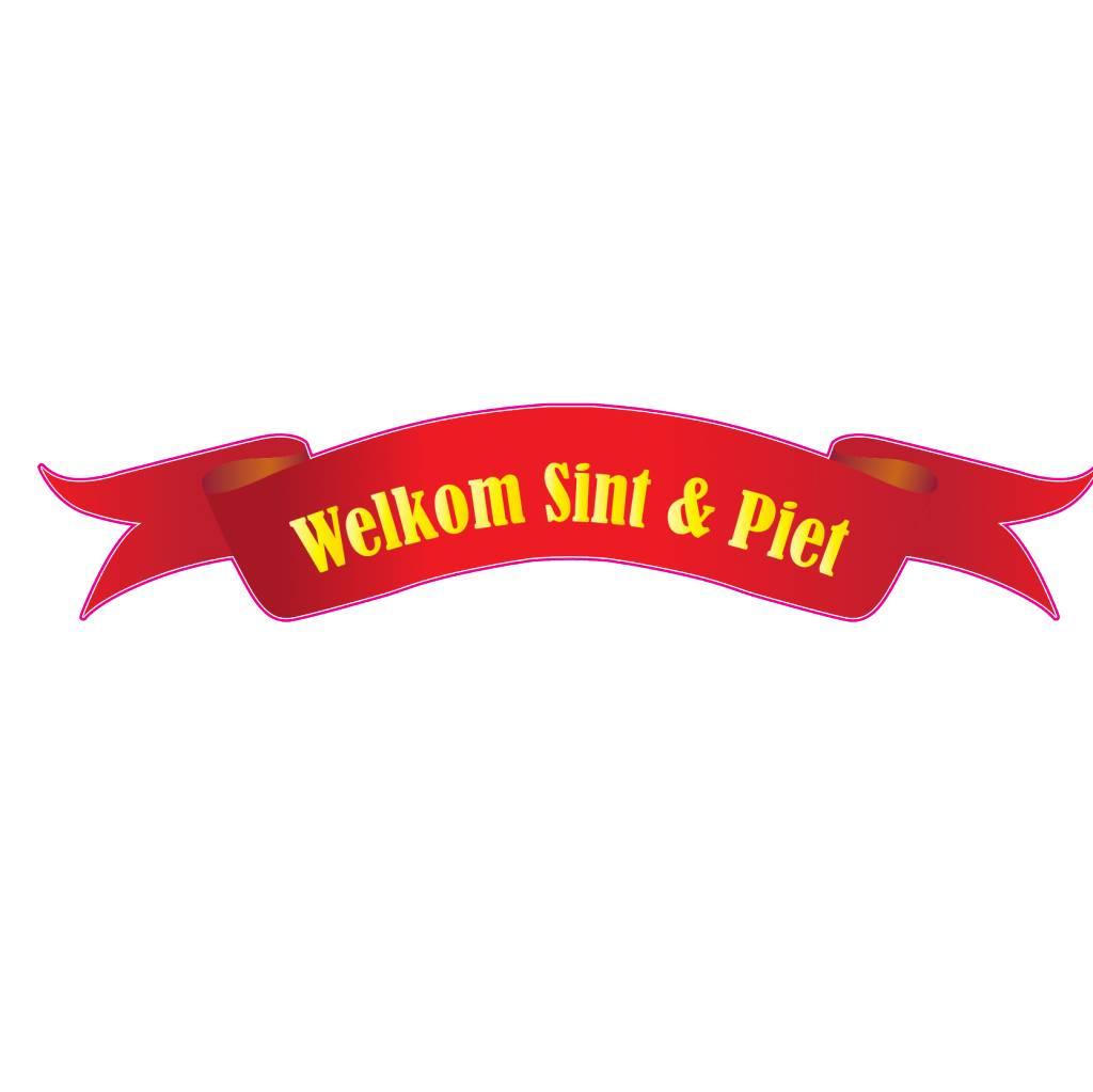 Welkom Sinterklaas lint sticker