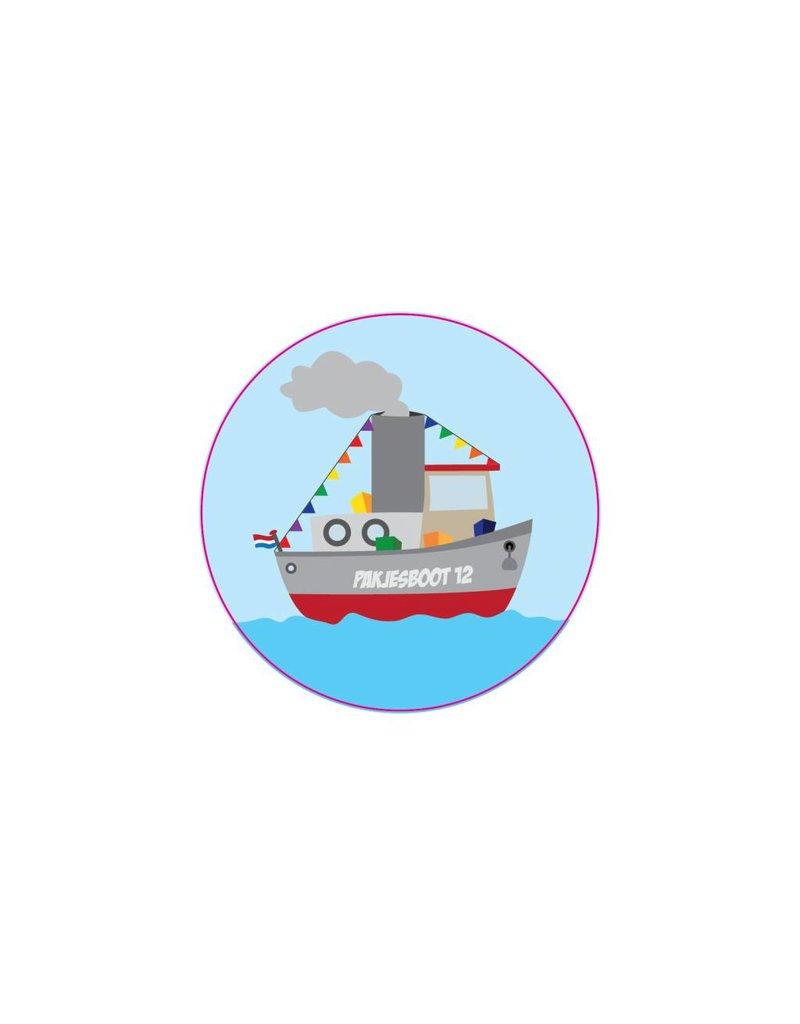 Pakjesboot sticker