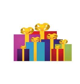 Pegatina regalo pila