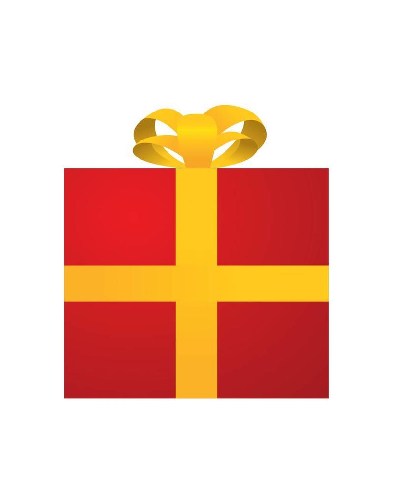 Pegatina regalo rojo