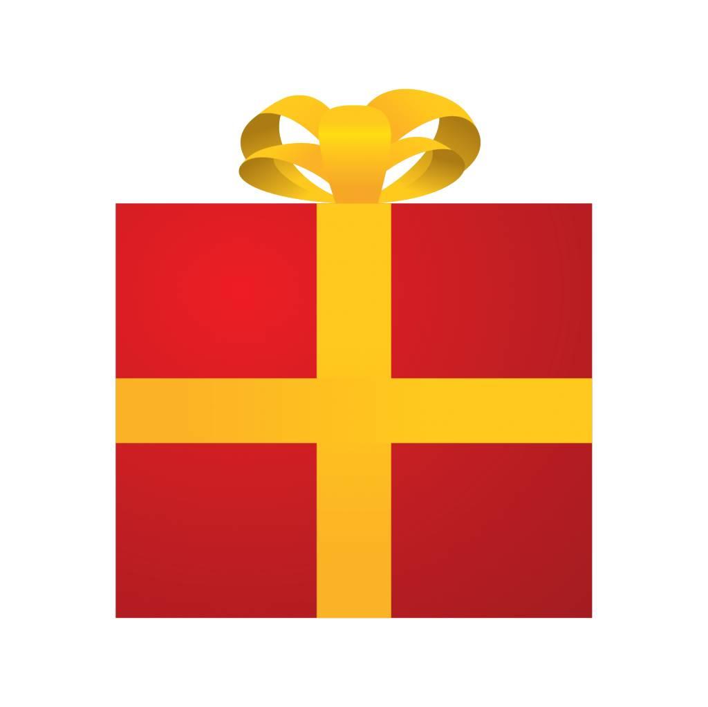 Cadeau rouge autocollant