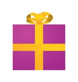 Pegatina regalo rosa