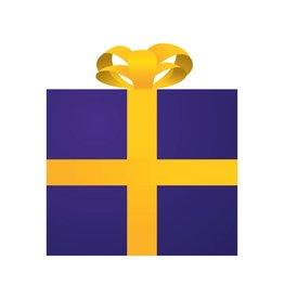 Cadeau violet autocollant