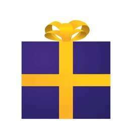 Pegatina regalo morado