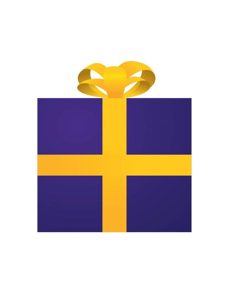 Present purple Sticker