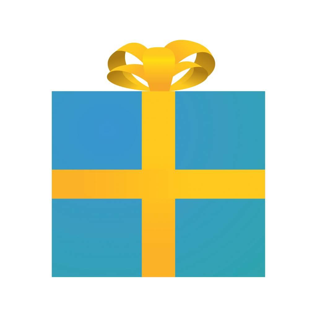 Geschenk blau Sticker