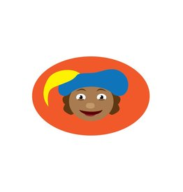 Cartoon Piet Oranje Sticker
