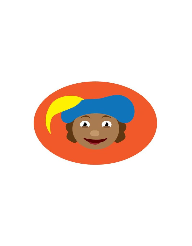 Illustration Piet orange Sticker