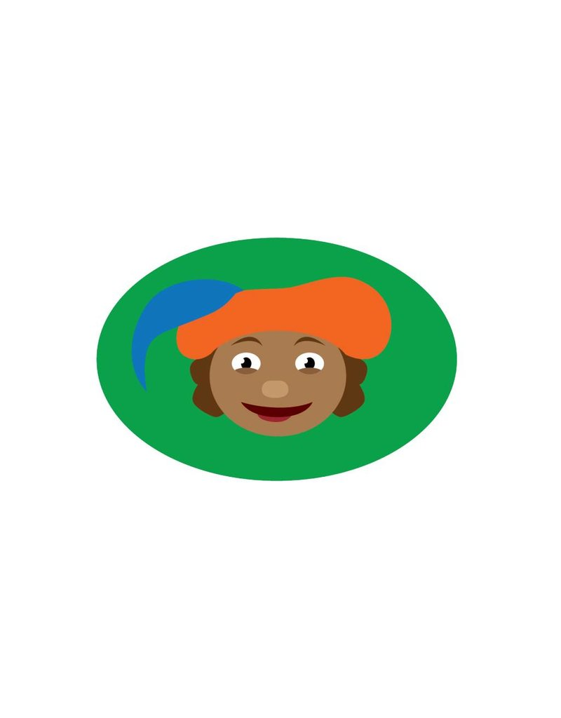 Illustration Piet grün Sticker