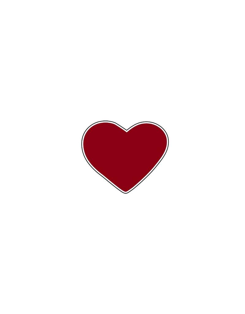 Valentine's day Heart Bordeaux Stickers