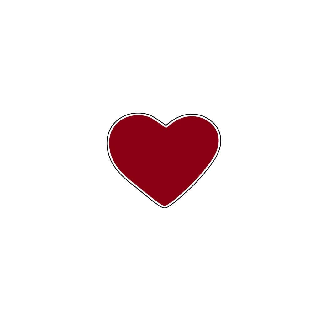 Valentijnsdag Hart Bordeaux Stickers