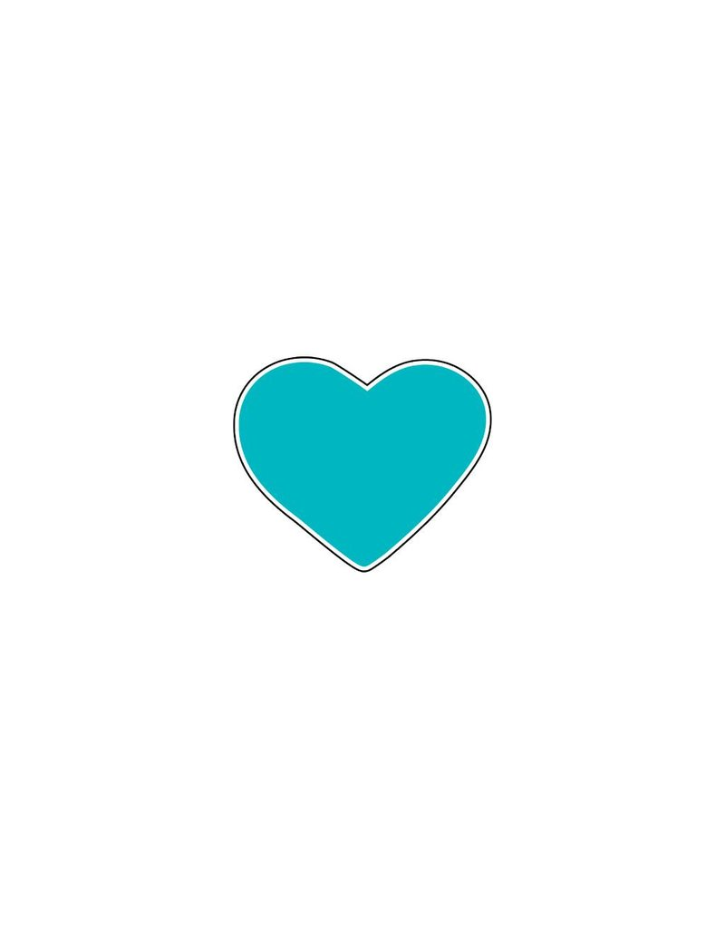 Valentijnsdag Hart Turquoise Stickers