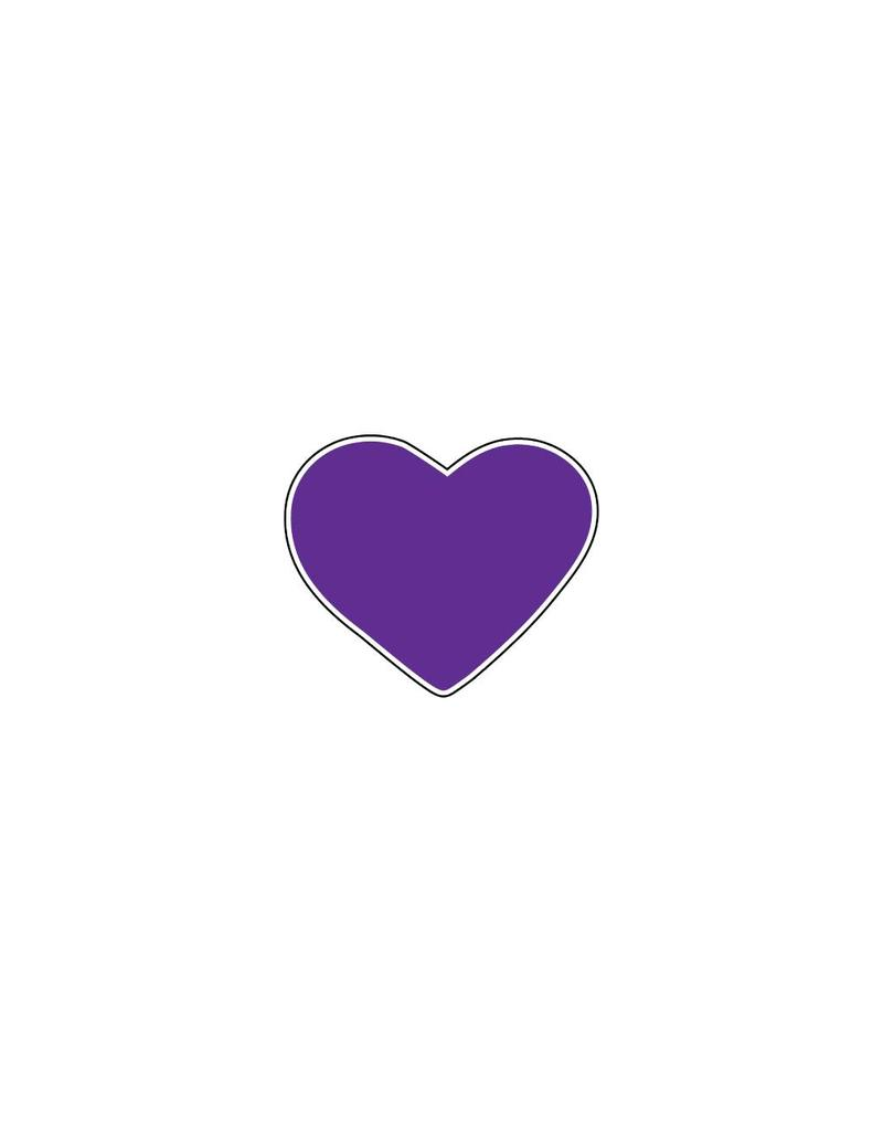 Autocollant Saint-Valentin cœur violet