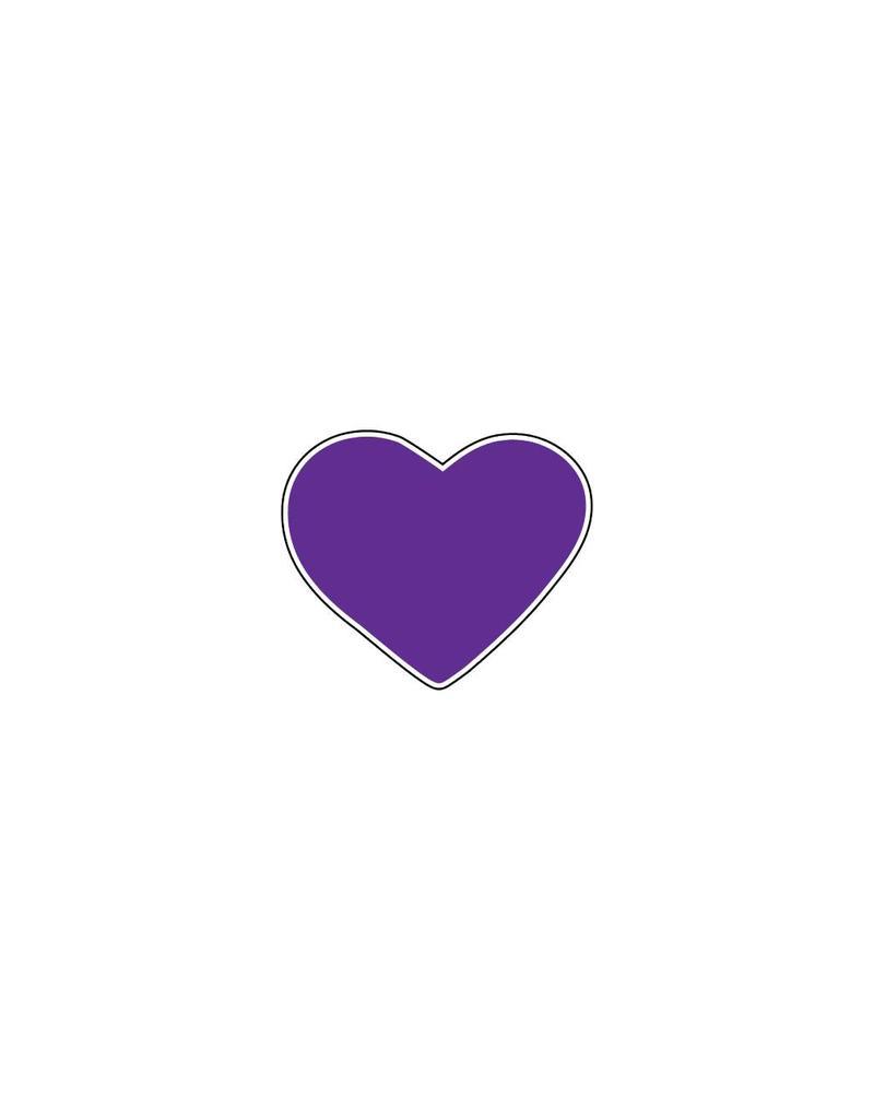 Valentine's day Heart Purple Stickers